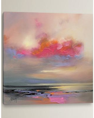 """Brayden Studio Magenta Cloud by Scott Naismith Painting Print on Wrapped Canvas BRSD3009 Size: 26"""" H x 26"""" W x 0.75"""" D"""