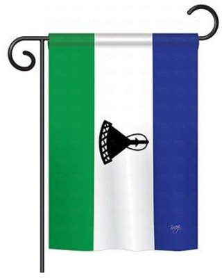 Deals On Breeze Decor Lesotho 2 Sided Polyester House Flag In Blue Green Size 40 H X 28 W Wayfair Bd Cy H 108288 Ip Bo Ds02 Us