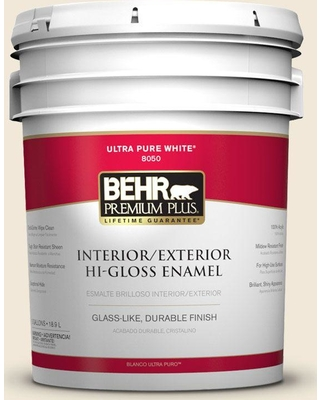 Great Deal On Behr Premium Plus 5 Gal Home Decorators Collection Hdc Nt 03 Chenille Spread Hi Gloss Enamel Interior Exterior Paint