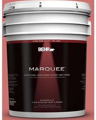 BEHR MARQUEE 5 gal. #160D-5 Lovable Flat Exterior Paint and Primer in One