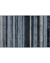 Mohawk Home Rainbow Striped Rug, Dark Blue, 5X8 Ft