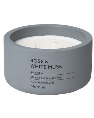 Rose and White Musk Scented Jar Candle