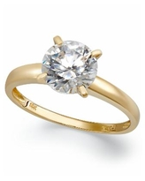 Arabella 14k Gold Cubic Zirconia Solitaire Ring (3-1/2 ct. t.w.)