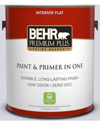 BEHR Premium Plus 1 gal. #MQ3-59 Will O the Wisp Flat Low Odor Interior Paint and Primer in One