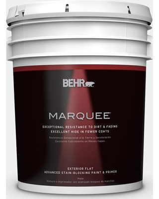 Don't Miss This Deal: BEHR MARQUEE 5 gal. #BL-W15 Frost Flat ... on exterior paint combination beige black, exterior paint before and after, exterior paint for brick homes,