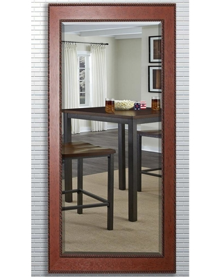 RAYNE MIRRORS 29.5 in. x 70 in. Western Rope Beveled Oversized Full Body Mirror