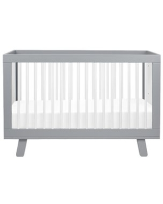 babyletto Hudson 3-in-1 Convertible Crib Color: Gray/White
