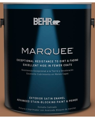 BEHR MARQUEE 1 gal. #S240-7 Leather Work Satin Enamel Exterior Paint and Primer in One