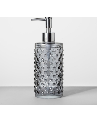 Shopping Special For Hobnail Glass With Plastic Pump Soap Lotion Dispenser Gray Tint Opalhouse