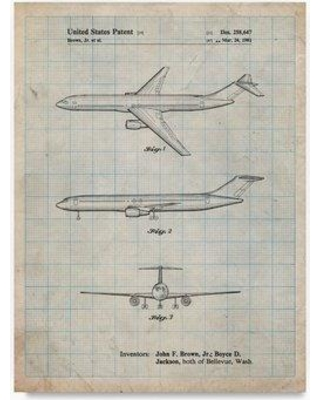 """Trademark Fine Art 'Boeing Concept 777 Aircraft' Drawing Print on Wrapped Canvas ALI22062-C Size: 47"""" H x 35"""" W"""
