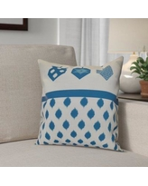 """The Holiday Aisle Hanukkah 2016 Decorative Holiday Geometric Outdoor Throw Pillow HLDY6582 Size: 18"""" H x 18"""" W x 2"""" D, Color: Teal"""