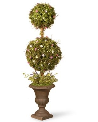 National Tree Company 45-Inch Artificial Spring Topiary Tree with Decorative Urn Planter
