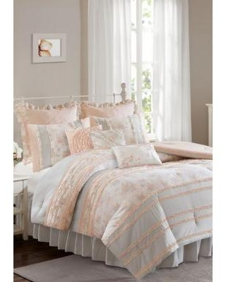 New Deal On Madison Park Coral Serendipity Cotton Percale Coral Comforter Set