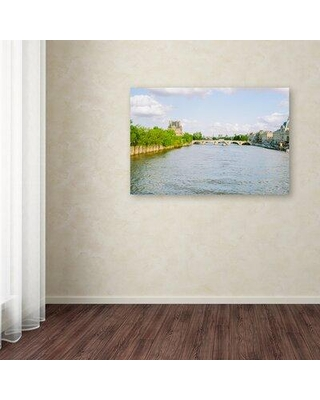 Savings On Trademark Fine Art Paris Seine By Ariane Moshayedi Photographic Print On Wrapped Canvas Canvas Fabric In Brown Blue Green Wayfair