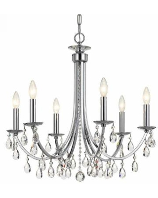 Crystorama Bridgehampton 26 Inch 6 Light Chandelier - 8826-CH-CL-MWP