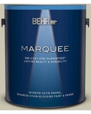 BEHR MARQUEE 1 gal. #N340-2 Dune Grass Satin Enamel Interior Paint and Primer in One