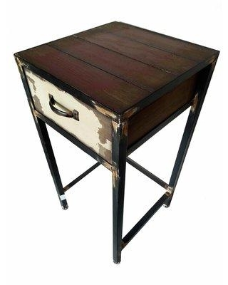 August Grove Seagle 1 Drawer Nightstand W001956407