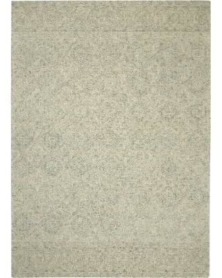 Nourison Azura AZM01 Teal and White 8'x11' Oversized Handcrafted Rug - Nourison AZM01