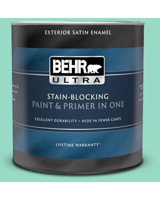 BEHR ULTRA 1 qt. #MQ4-17 Pageant Green Satin Enamel Exterior Paint and Primer in One