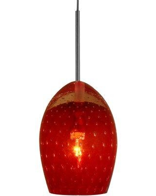 Oggetti Galaxy 1 Light Low Voltage Pendant 34-L0 Shade Color: Red Canopy Type: Flush Round