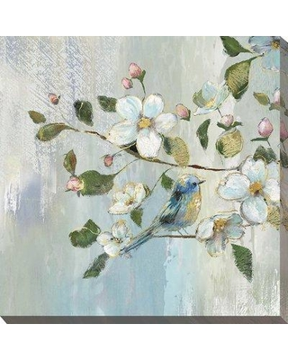 """Ophelia & Co. 'Painterly Spring I' Acrylic Painting Print BI147453 Size: 28"""" H x 28"""" W x 1.5"""" D Format: Wrapped Canvas"""