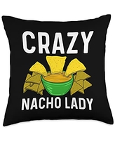 Best Nacho Beef Cheese Tortillas Corn Meal Designs Cool Nacho Gift For Women Aunt Taco Chips Mexican Snack Food Throw Pillow, 18x18, Multicolor