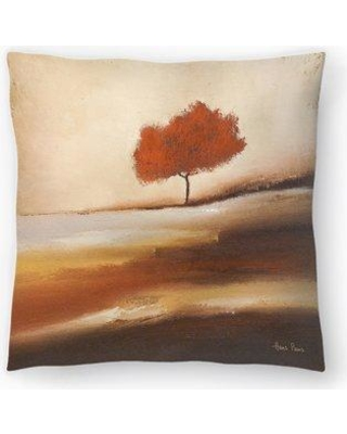 """East Urban Home Hans Paus Solitary Tree Copy Throw Pillow EBIC1127 Size: 18"""" H x 18"""" W x 1.5"""" D"""