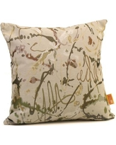 """Rennie & Rose Design Group Drip Painting Throw Pillow 1330 Color: Steel Size: 24"""" H x 24"""" W x 5"""" D"""