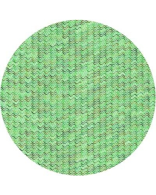 East Urban Home Patterned 1845 Green Area Rug W002522214 Rug Size: Rectangle 3' x 5'