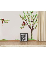 "Pop Decors""Cherry Tree with Squirrels"" Beautiful Wall Stickers for Kids Rooms"