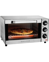 Hamilton Beach 4 Slice Toaster Oven - Stainless Steel 31401, Black & Silver