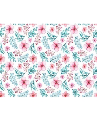 """Bungalow Rose Maher Removable Nursery Vintage 6.25' L x 25"""" W Peel and Stick Wallpaper Roll BF182586"""