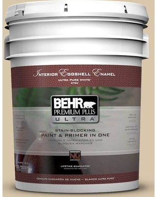 BEHR ULTRA 5 gal. #PPU4-13 Sand Motif Eggshell Enamel Interior Paint and Primer in One