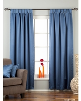 Blue Tab Top 90% blackout Curtain / Drape / Panel - Piece (No Lining 43 X 24 Inches (109 X 61 Cms))