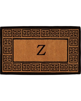 Home & More The Grecian Extra-Thick 18 in. x 30 in. Monogram Z Door Mat, Multi