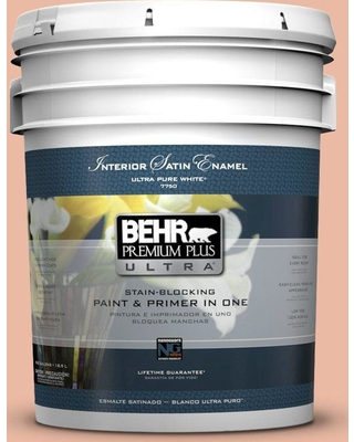 BEHR ULTRA 5 gal. #M200-3 Sunset Drive Satin Enamel Interior Paint and Primer in One