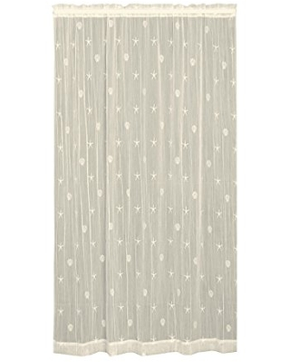 Heritage Lace Sand Shell Panel, 45 by 84-Inch, Ecru