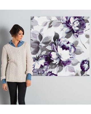 """Lark Manor Scent of Plum Roses II Painting Print on Wrapped Canvas LARK7530 Size: 37"""" H x 37"""" W x 0.75"""" D"""