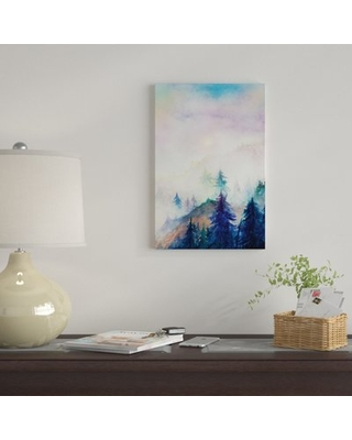 """'Into The Mist' By Marco Gonzalez Graphic Art Print on Wrapped Canvas East Urban Home Size: 18"""" H x 12"""" W x 0.75"""" D"""