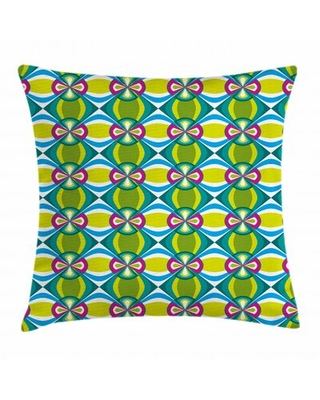 Motifs Elliptic Curvy Indoor / Outdoor Floral Throw Pillow Cover