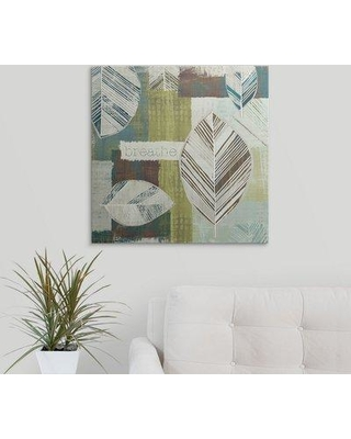 """Great Big Canvas 'Be Leaves I' Graphic Art Print 1051220_1 Size: 24"""" H x 24"""" W x 1.5"""" D Format: Canvas"""