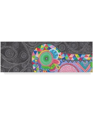 """Trademark Art 'Tribal Journey' Drawing Print on Wrapped Canvas ALI35712-CGG Size: 10"""" H x 32"""" W x 2"""" D"""