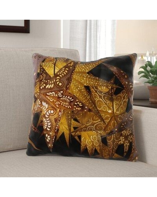 The Best Sales For The Holiday Aisle Antonella Luminous Stars Indoor Outdoor Canvas Throw Pillow Polyester Polyfill In Orange Size 18x18 Wayfair