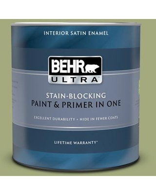 BEHR ULTRA 1 qt. #M350-5 Mossy Cavern Satin Enamel Interior Paint and Primer in One