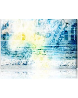 """Oliver Gal Burst Creative """"Water is"""" Graphic Art on Canvas 10326 Size: 30"""" x 20"""""""