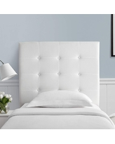 Villa Classic - Tufted - Plush College Dorm Headboard - White (Headboard with Legs - Assembly Required)