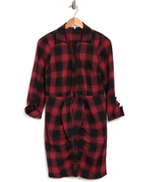 LIKELY Scottie Plaid Flannel Shirtdress, Size 2 in Red/Black/Multi at Nordstrom Rack