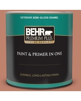 Shop For Behr Marquee 1 Qt Qe 03 Clay Ground Semi Gloss Enamel Interior Paint Primer