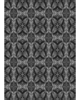 East Urban Home Kammerer Floral Wool Gray Area Rug X112794935 Rug Size: Rectangle 3' x 5'