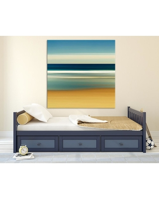"""Clicart 54 in. x 54 in. """"Sea Stripes II"""" by Katherine Gendreau Printed Framed Canvas Wall Art"""